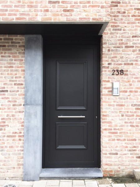 Grafietzwart ramen en deuren